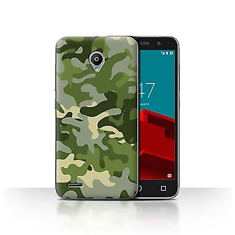 STUFF4 Case/Cover for Vodafone Smart Prime 6/Green 1/Camouflage Army Navy