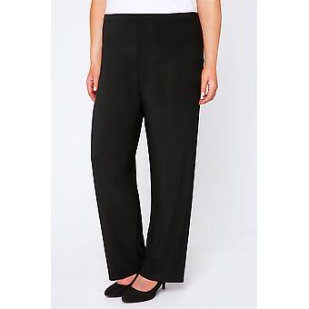 Pull-on wide legged trousers
