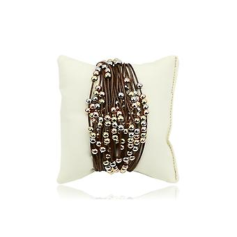 Gaia multi-strand bracelet with beads