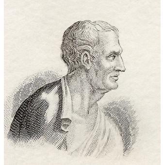 Фокеона C402 C318 Bc Афинский государственный деятель и стратег из исторического словаря Crabbs опубликовал 1825 PosterPrint