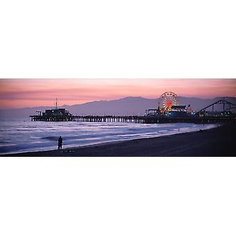 Santa Monica Pier Santa Monica CA plakatutskrift