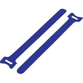 Hook-and-loop cable tie for bundling Hook and loop pad (L x W) 125 mm x 12 mm Blue KSS MGT-125BE 1 pc(s)