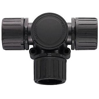 HellermannTyton 166-24801 HG20 Helaguard T-Connector With Inspection Lid Polyamide 6.6 Black