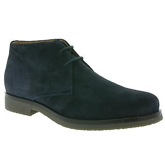 GEOX Claudio mens leather ankle boot Navy lace-ups