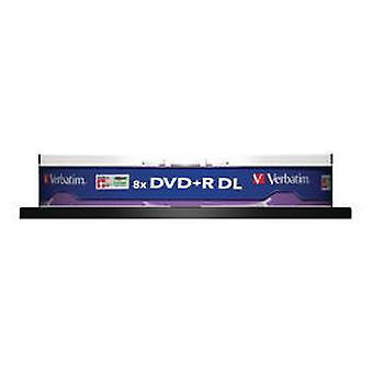 Verbatim 1X10 DVD + R Double Layer 8X Speed, 8.5GB Silver Mate