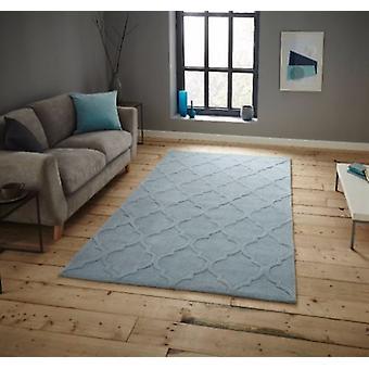 HK 8583 Licht blau Rechteck Teppiche Plain/fast nur Teppiche