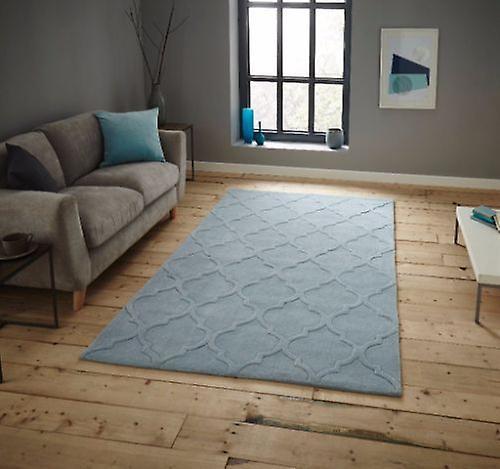 HK 8583 tapis lumineux bleu Rectangle tapis Plain presque ordinaire