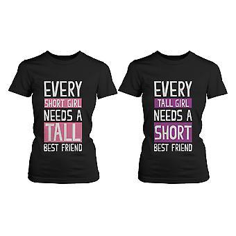 Bester Freund-Shirts - kurz und hoch beste Freunde BFF passenden T-shirts