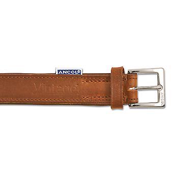 Heritage Vintage Leather Padded Collar Chestnut 45-54cm Sz 6