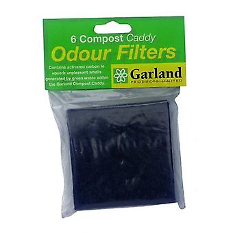 Set of 6 Replacement Filters for Compost Caddies Bin