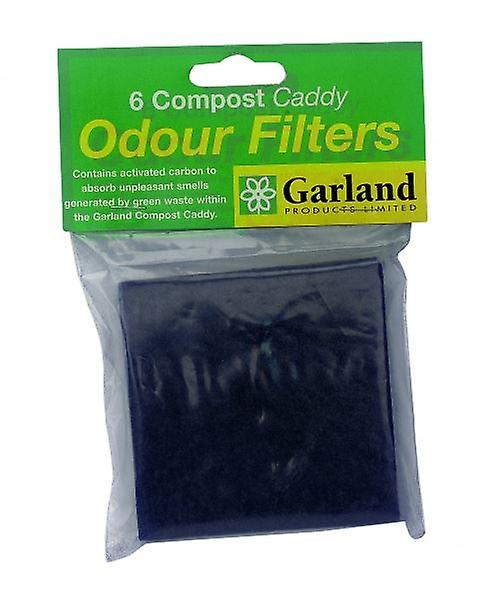 Set of 6 Replacement Odour Filters for Compost Caddy Bin