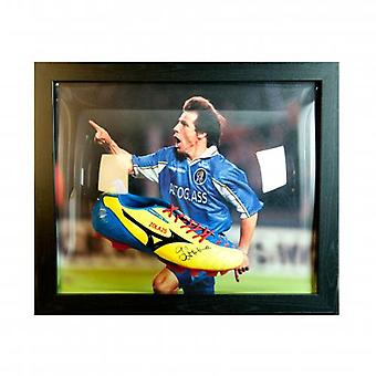 Chelsea Zola Signed Boot (Framed)