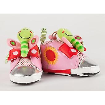 Playtoes Butterfly Pink Baby Shoes 3m+