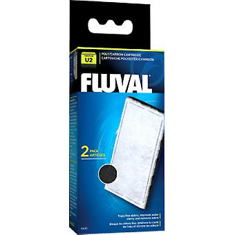 Fluval FLUVAL U2 POLY/CARBON  (2pc) (Fish , Filters & Water Pumps , Filter Sponge/Foam)