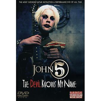 John 5 - Djævelen kender My Name [DVD] USA importerer