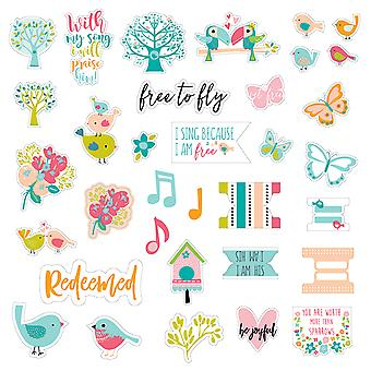 Illustrated Faith Delight In His Day Stickers-Elements DIHD1483
