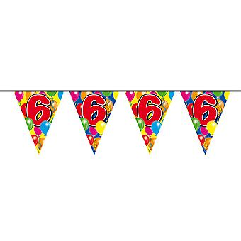 Pennant chain 10 m number 6 years birthday decoration party Garland