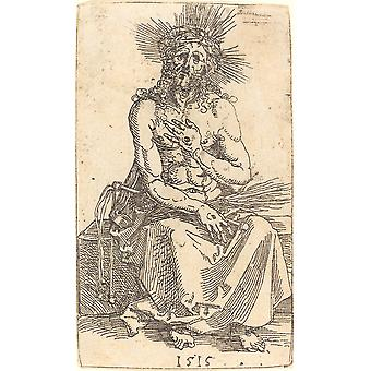 Albrecht Durer - The Man of Sorrows Seated Poster Print Giclee