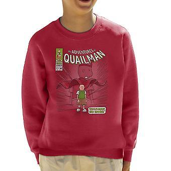 Quailman No More Doug Comic Superhero Kid's Sweatshirt