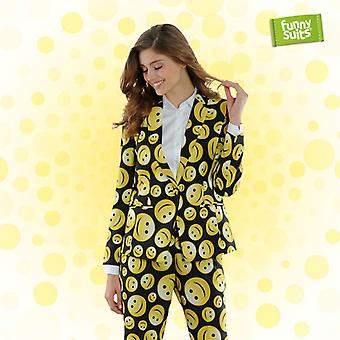 Smileyanzug ladies Funnysuits preppy happy 2 piece suit costume deluxe EU SIZES