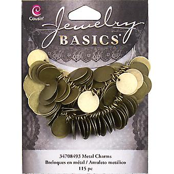 Jewelry Basics Coin Charms 115 Pkg Gold 34708493