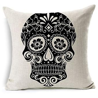 Superstudio Black Skull pute Cover bomull 45 X 45 - (hjem, tekstil, Cushiones)