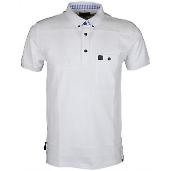 Voi Jeans Bowler Pique Pocket White Polo
