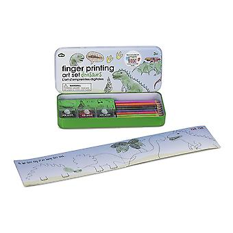 Finger Painting Dinosaurs Art Set (Ink Pads, Pencils & Rubber Stamps Gift Set)