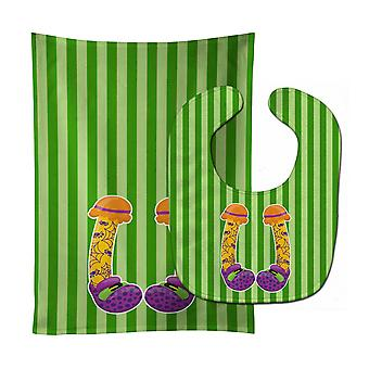 Carolines Treasures  BB9108STBU Halloween Witch's Feet #3 Baby Bib & Burp Cloth