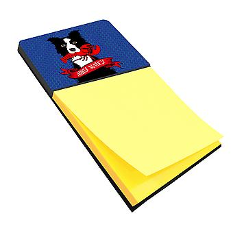 Ahoy Matey Nautical Border Collie Sticky Note Holder