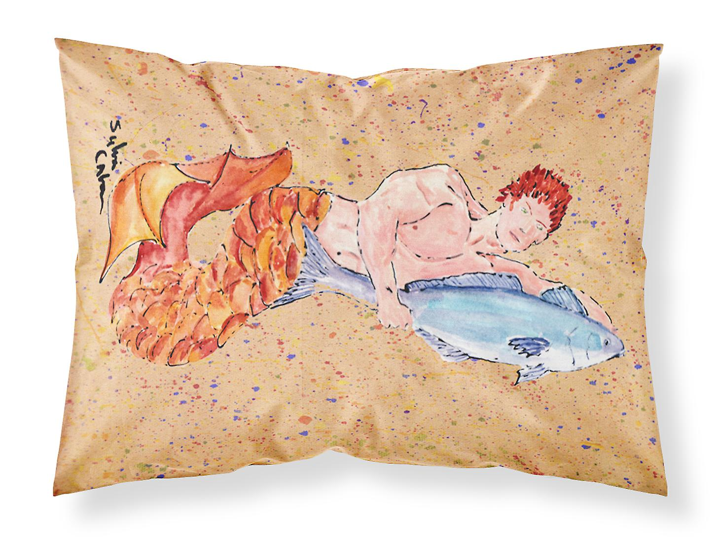 Carolines Treasures  8346PILLOWCASE Merman Moisture wicking Fabric standard pill