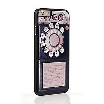 På din sag Iphone 6 og 6s sag - sort Vintage mønttelefon
