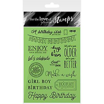 Hunkydory For The Love Of Stamps A6-Birthday Wishes FTLS113