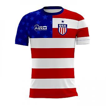 Maglia di calcio 2018-2019 USA Home Concept