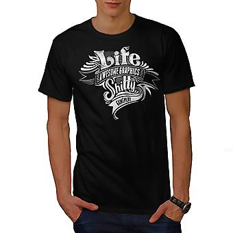 Life Bad Gameplay Men BlackT-shirt | Wellcoda