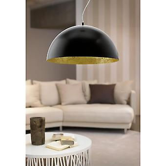 Eglo Gaetano LED Black And Gold Patina Bowl Ceiling Light LED Pendant, 530mm