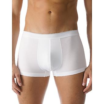 Mey 46129-101 Men's Dry Cotton White Solid Colour Fitted Boxer