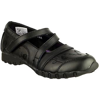 Mirak Girls Tessa Z Strap Detailed Leather Mary Jane School Shoe Black