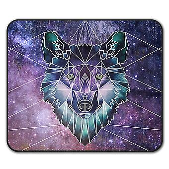 Psychodelic Wolf  Non-Slip Mouse Mat Pad 24cm x 20cm | Wellcoda