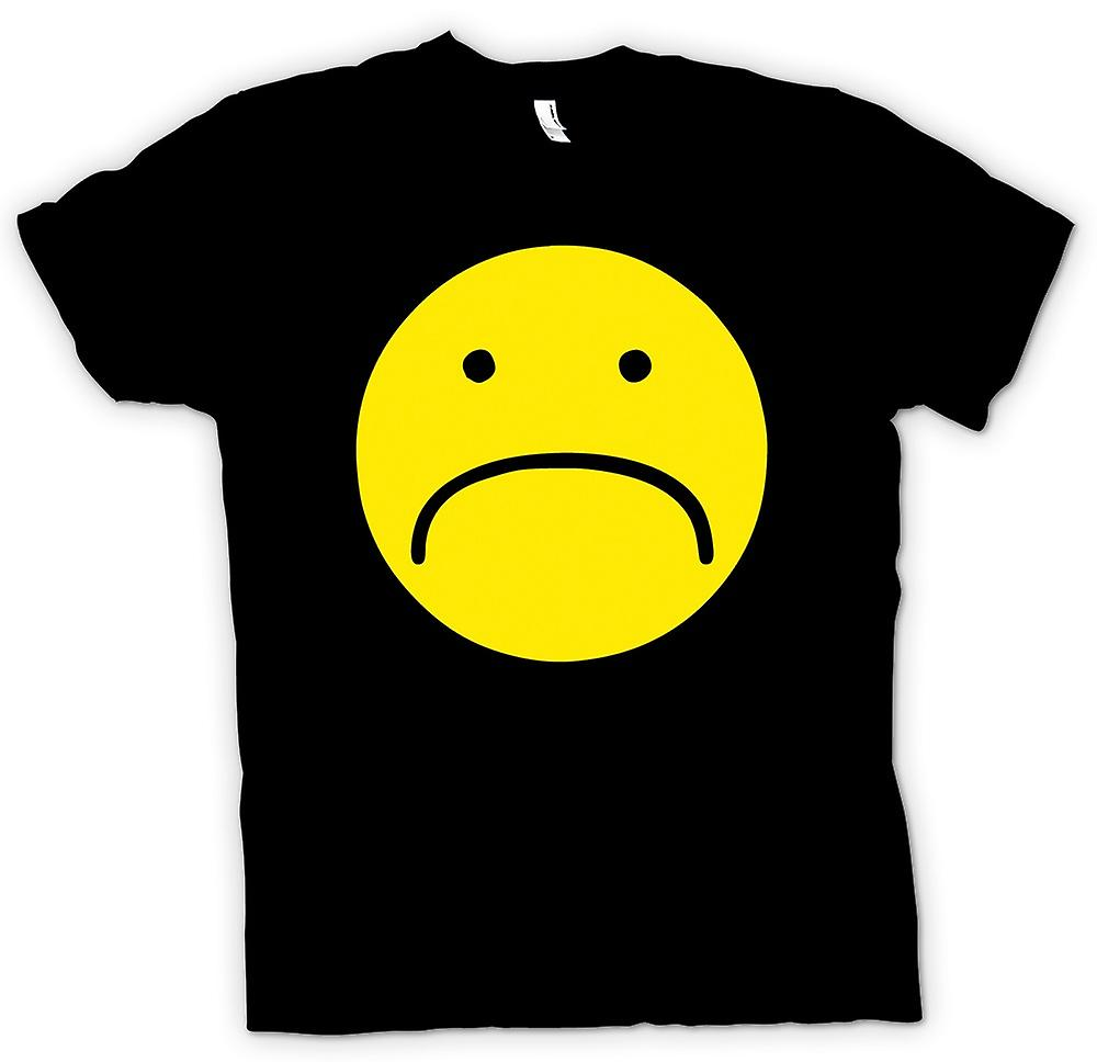 Mens T-shirt - Smiley Face - Unhappy