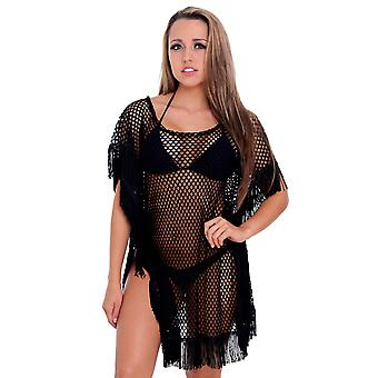 Vrouwen prachtige kwast badmode Cover-up strand jurk Made in the USA