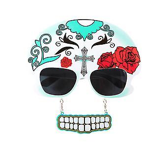 Glasögon Mujer Dia De Los Meurtos W/tänder