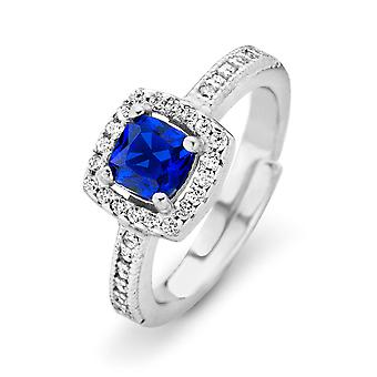 Orphelia Silver 925 Ring Princess  Zirconium  Blue  ZR-7199/BL