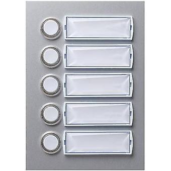 Friedland 400114 Bell panel backlit, incl. nameplate 5x Silver (matt, anodised) 15 V