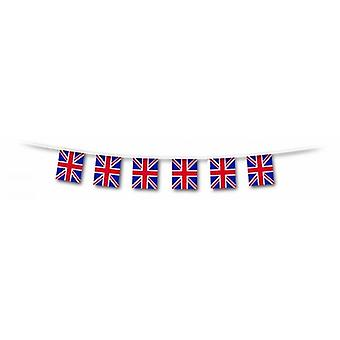Union Jack Wear A 10m Run Of Square, Plastic Union Jack Flag Bunting   30cm Width