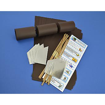 12 Brown Make & Fill Your Own Cracker Kits | DIY Christmas Cracker Crafts