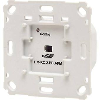 Homematic Wireless transmitter unit HM-RC-2-PBU-FM 142237A0 2-channel Flush mount