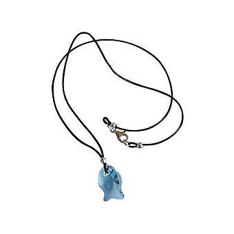 Gemshine - Damen - Halskette - Anhänger - Fisch - *Aquamarin* - Blau - 925 Silber - MADE WITH SWAROVSKI ELEMENTS® - 45 cm