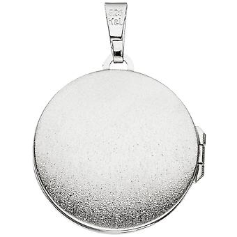 Medallion round tree 925 sterling silver rhodium plated to open 2 photos