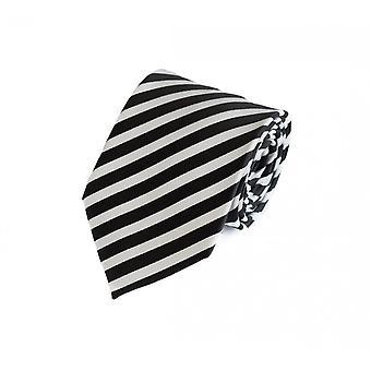 Cravatta cravatta cravatta cravatta 8cm nero rigato bianco Fabio Farini